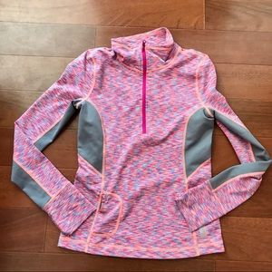 Zella Girl Pink Long Sleeve zip Athletic top
